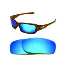 NEW POLARIZED CUSTOM ICE BLUE LENS FOR OAKLEY FIVES SQUARED SUNGLASSES